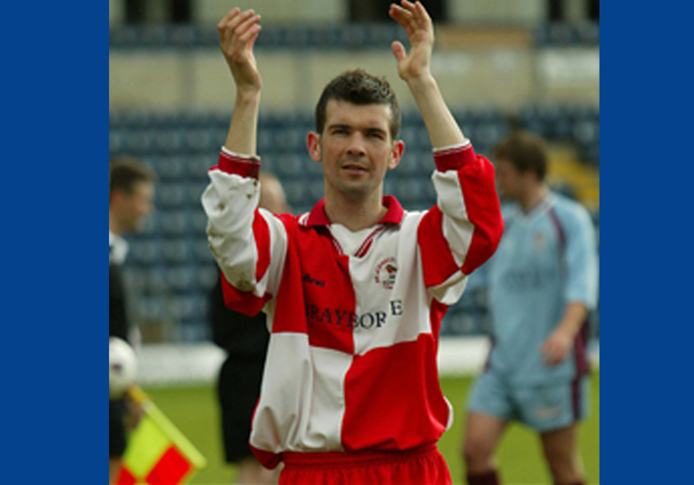 Stuart Hammonds at the end of the Berks & Bucks County Cup Final.