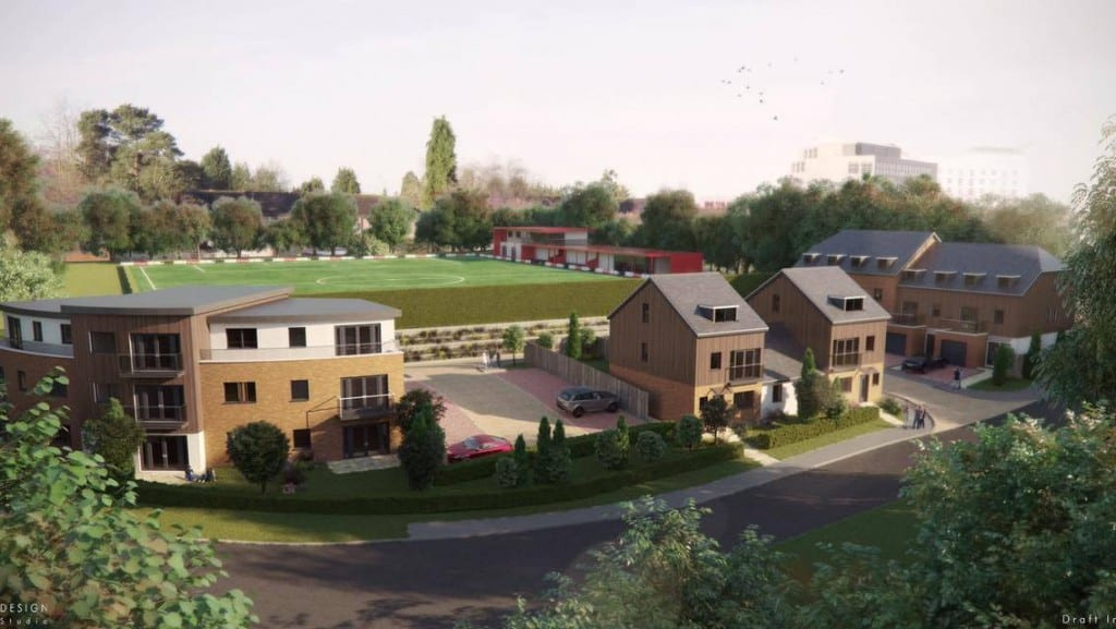 The new housing development on part of Bracknell Town's Larges Lane ground.