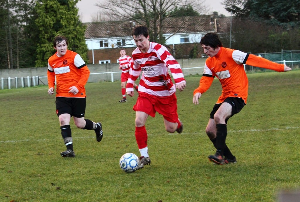 Sam Whiting (Wokingham - orange) and Ben Knight (Bracknell - red) in 2010. Photo: getreading.co.uk