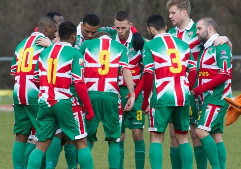 Windsor FC's interesting choice of kit. Photo: getsurrey.co.uk