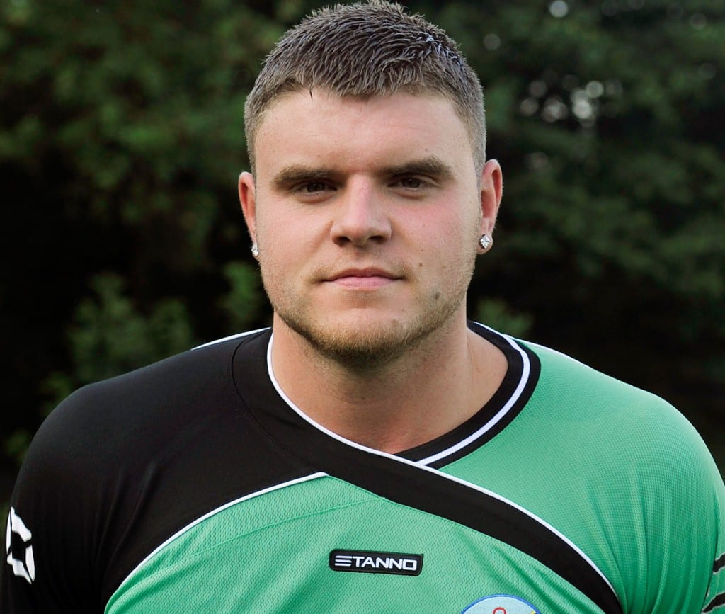 Ascot United goalkeeper Chris Grace.