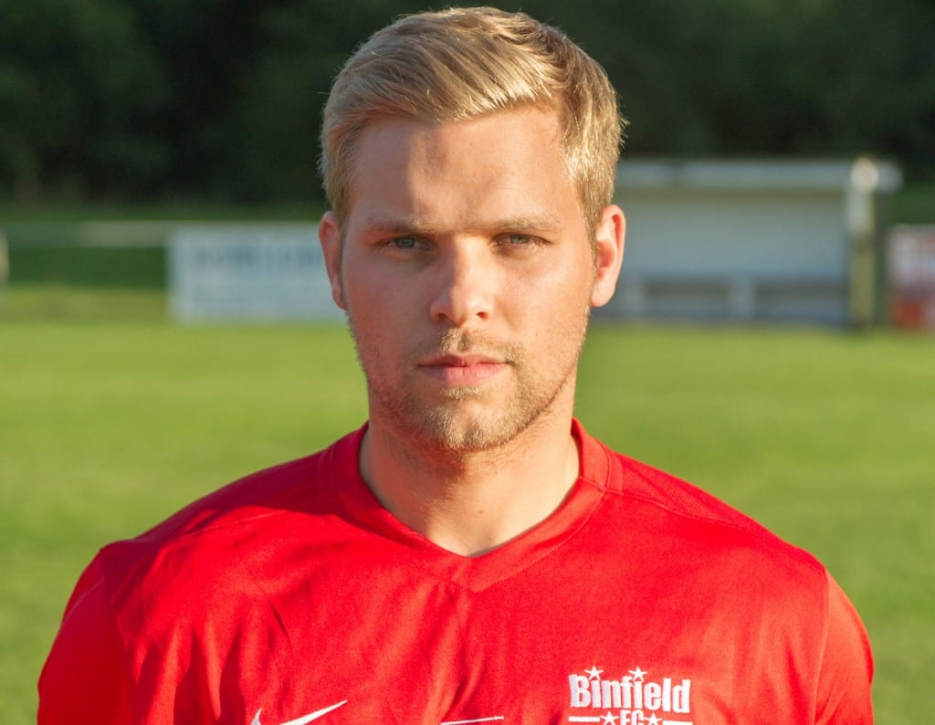 Binfield FC defender Alex Walton. Photo: Colin Byers.