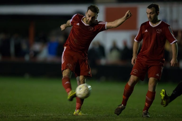 Bracknell Town striker Adam Cornell. Photo: Richard Claypole.