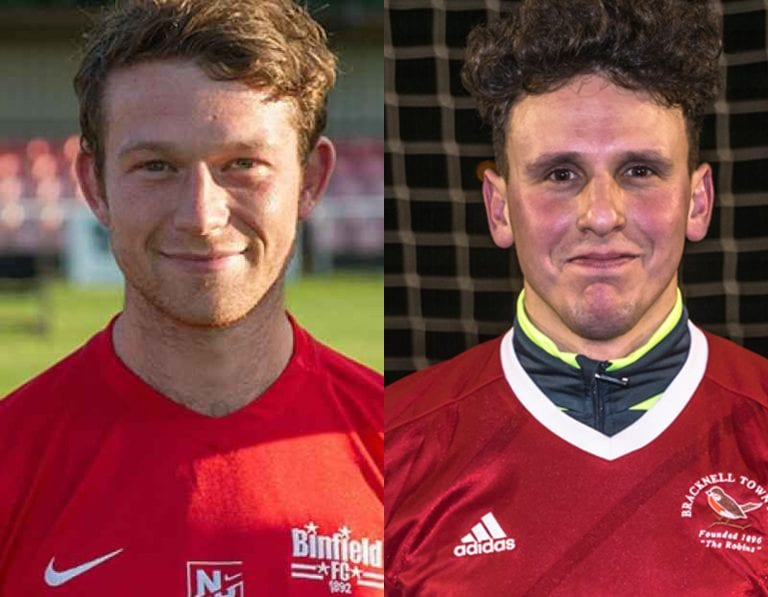 Danny Horscroft (left) and James Suarez (right). Photos: Colin Byers & Bracknell Town FC.