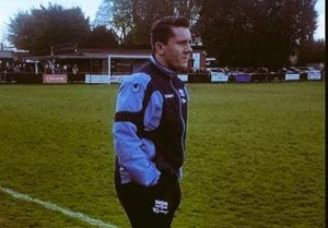 Binfield Reserves manager Ellis Woods. Photo: Richard Milam.