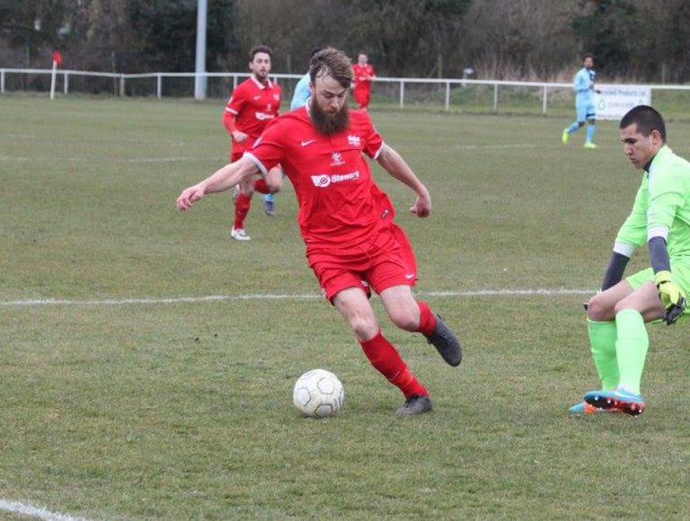 Binfield striker Ethan Jerome. Photo: Richard Milam.