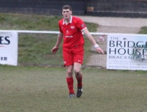 Binfield defender Lewis Leonetti. Photo: Richard Milam.