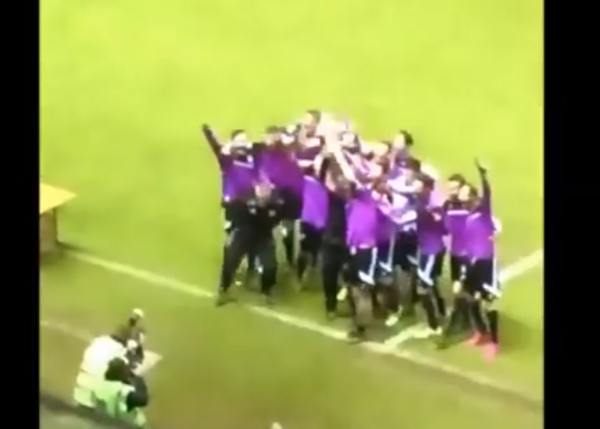 Henley Town celebrate winning the Reading Senior Cup.