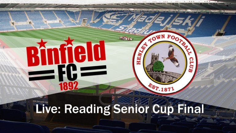 Live coverage of Binfield vs Henley Town in the Reading Senior Cup Final.