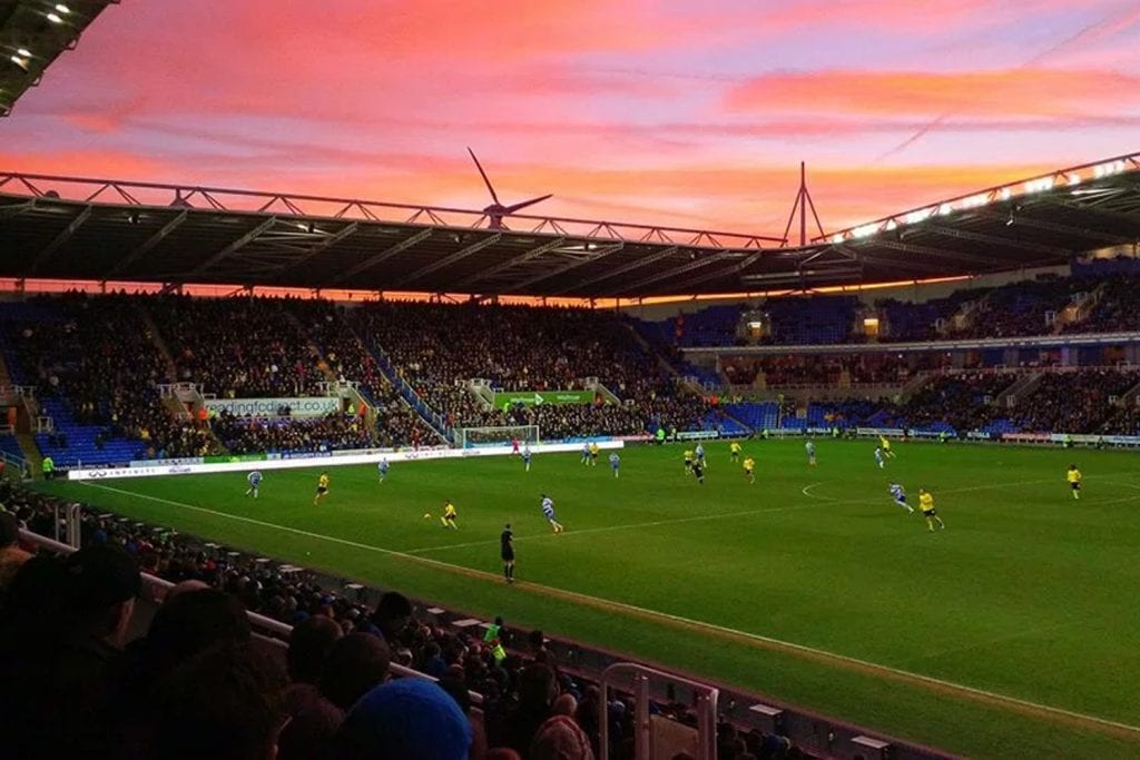 Sunset over Madejski Stadium in Reading. Photo: getreading.co.uk