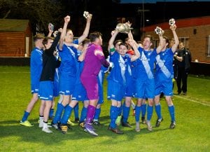 Binfield lift the Fielden Cup Final - 4th May 2016. Photo: Colin Byers.