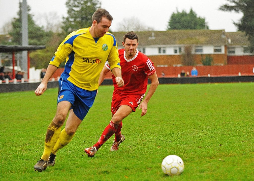 Ascot United's Joe Yeats at Larges Lane against Bracknell Town. Photo: Mark Pugh.