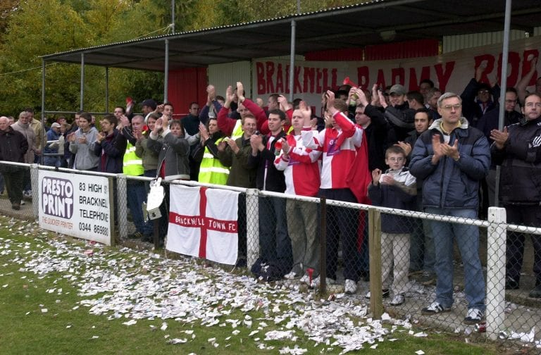 Bracknell Football Club Vs Barnet in the FA Cup 4th Qualifying round