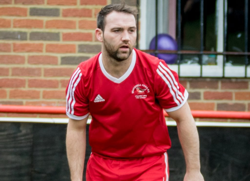 Jamie McClurg playing for Bracknell Town. Photo: Neil Graham.