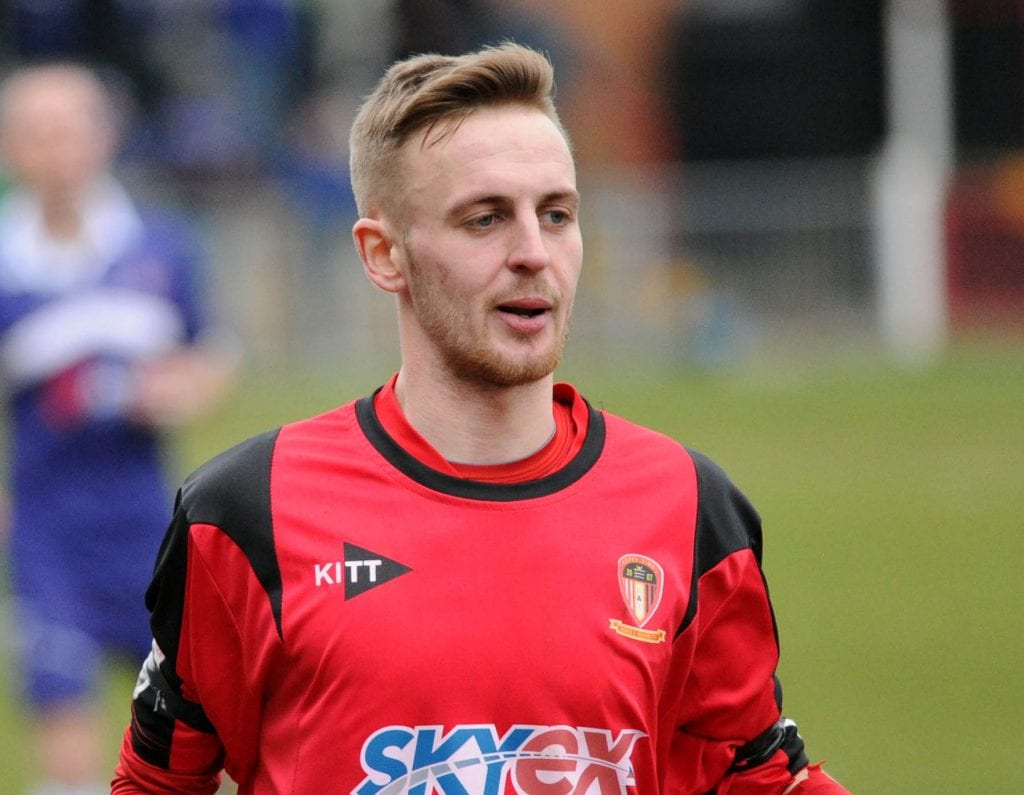 Luke Williams playing for Hayes & Yeading United. Photo: GetWestLondon.co.uk