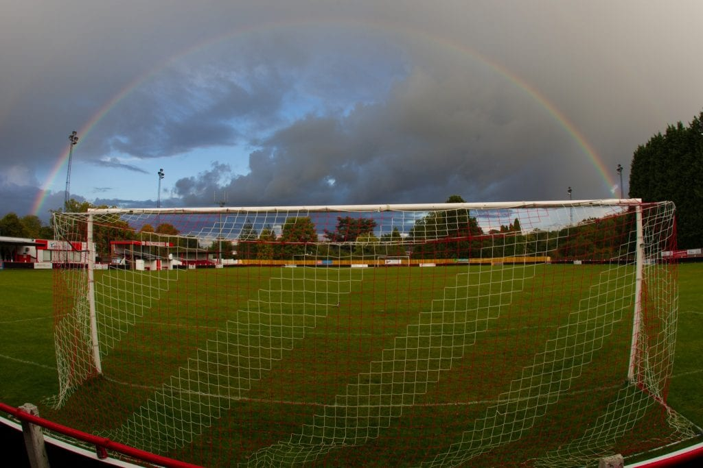 A rainbow over Larges Lane. Photo: Richard Claypole.