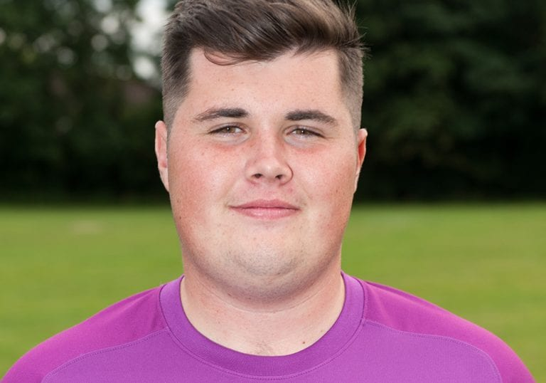 Binfield Reserves goalkeeper Liam Vaughan. Photo: Colin Byers.
