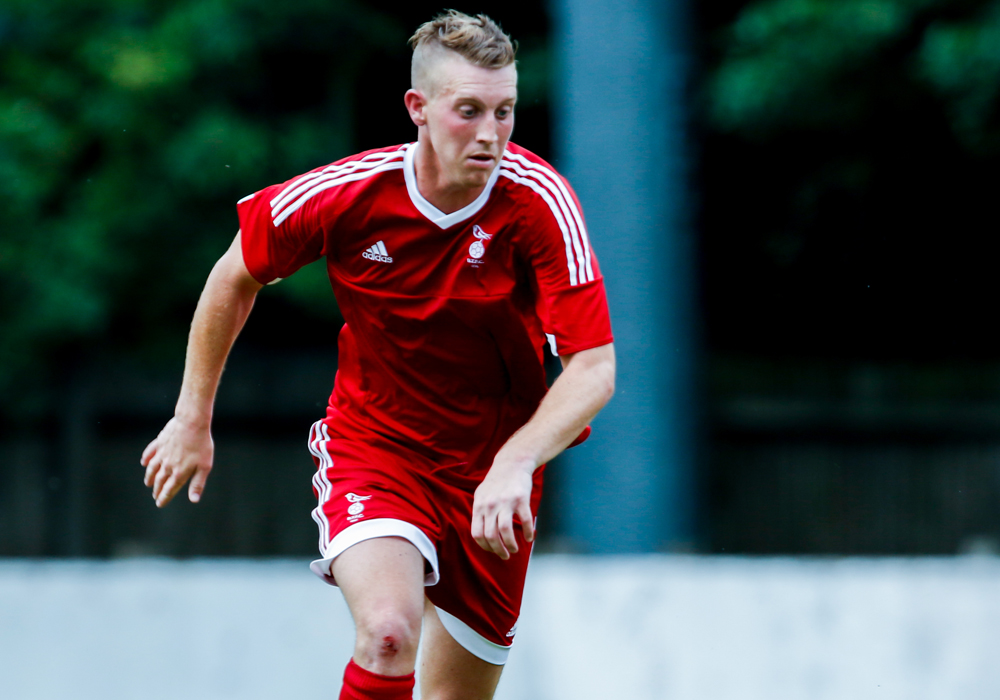 TJ Bohane for Bracknell Town FC. Photo: Neil Graham.