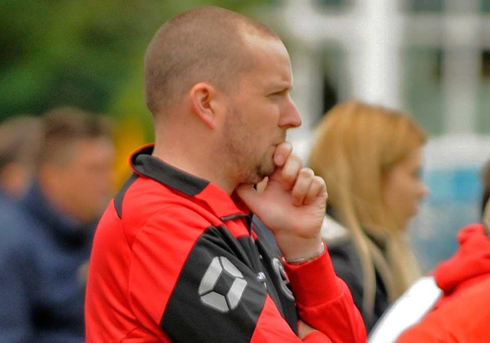 AFC Aldermaston manager Kieran Jennings. Photo: Mark Pugh.