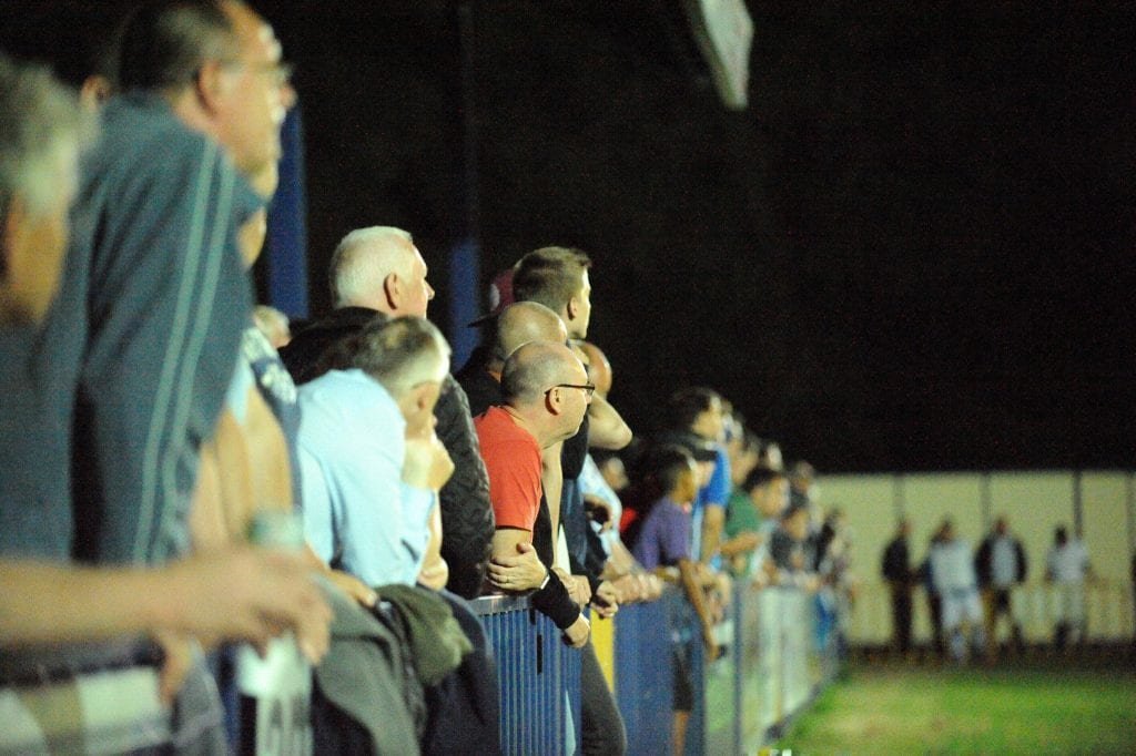 Fans at the Ascot United FC FA Cup replay against Tonbridge Angels. Photo: Mark Pugh.