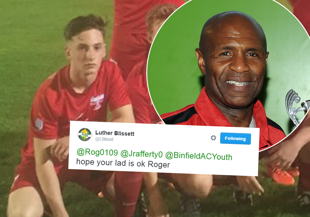 Binfield's Jake Rafferty and inset Luther Blissett. Photo's: getreading.co.uk and @binfieldacyouth.