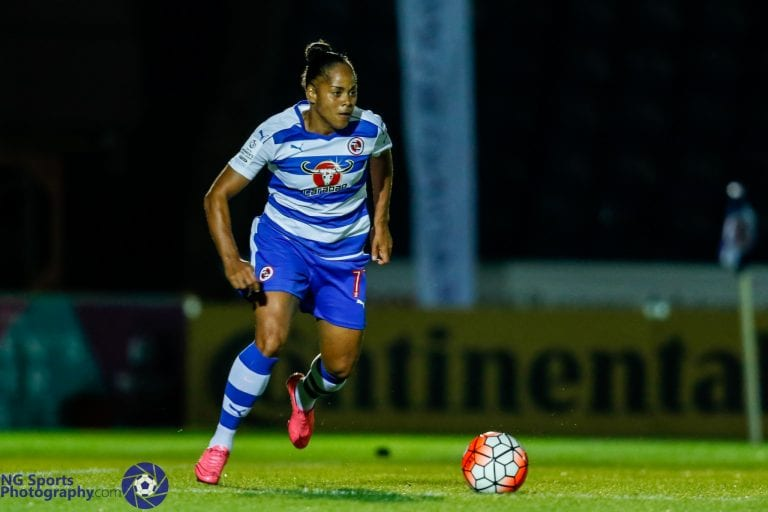 Reading FC Women's Jade Boho Sayo. Photo: Neil Graham.