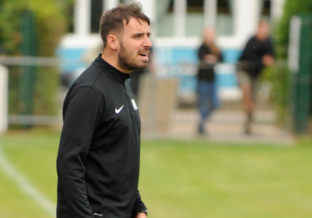 Woodley United manager Michael Herbert. Photo: Mark Pugh.