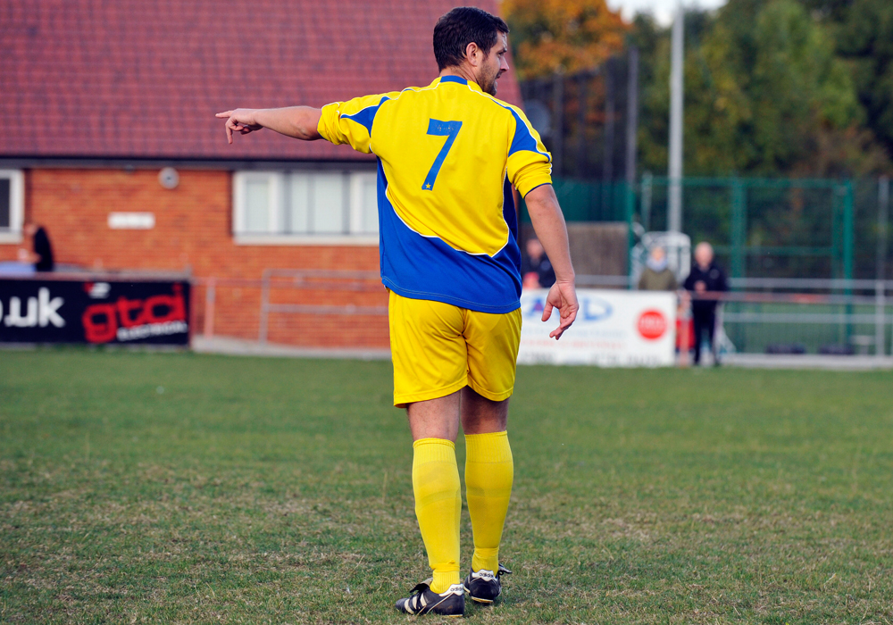 Ascot United FC manager Jeff Lamb directs the action. Photo: Mark Pugh.