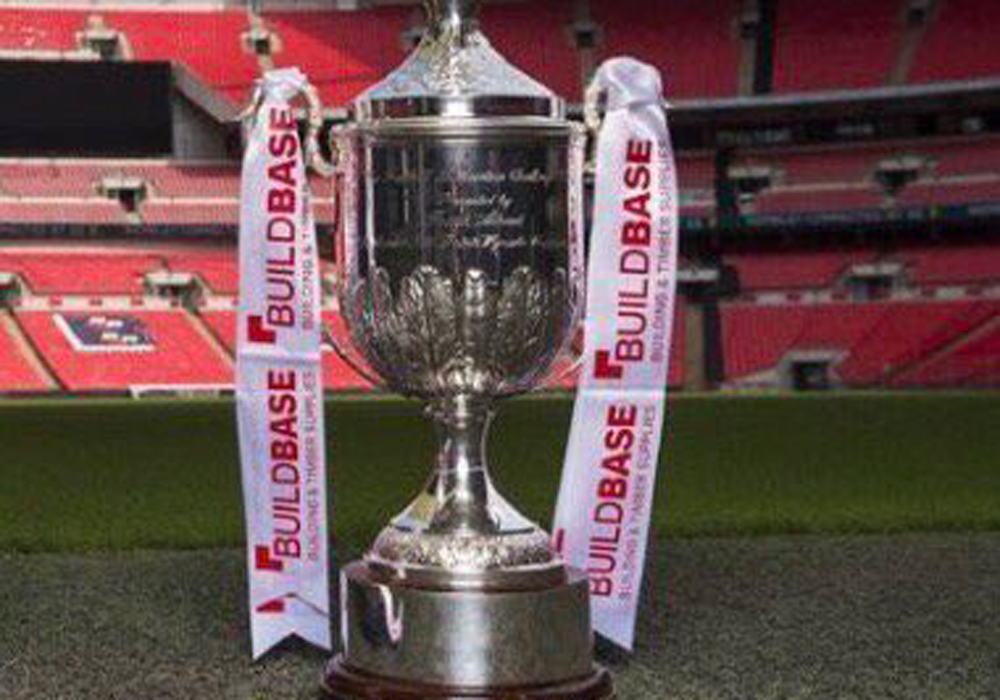 The Buildbase FA Vase trophy.
