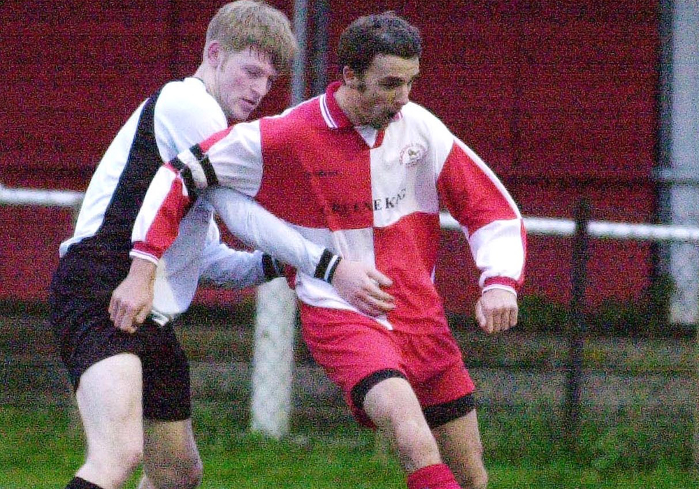 Gavin Smith captains Bracknell Town in the late 2000s.