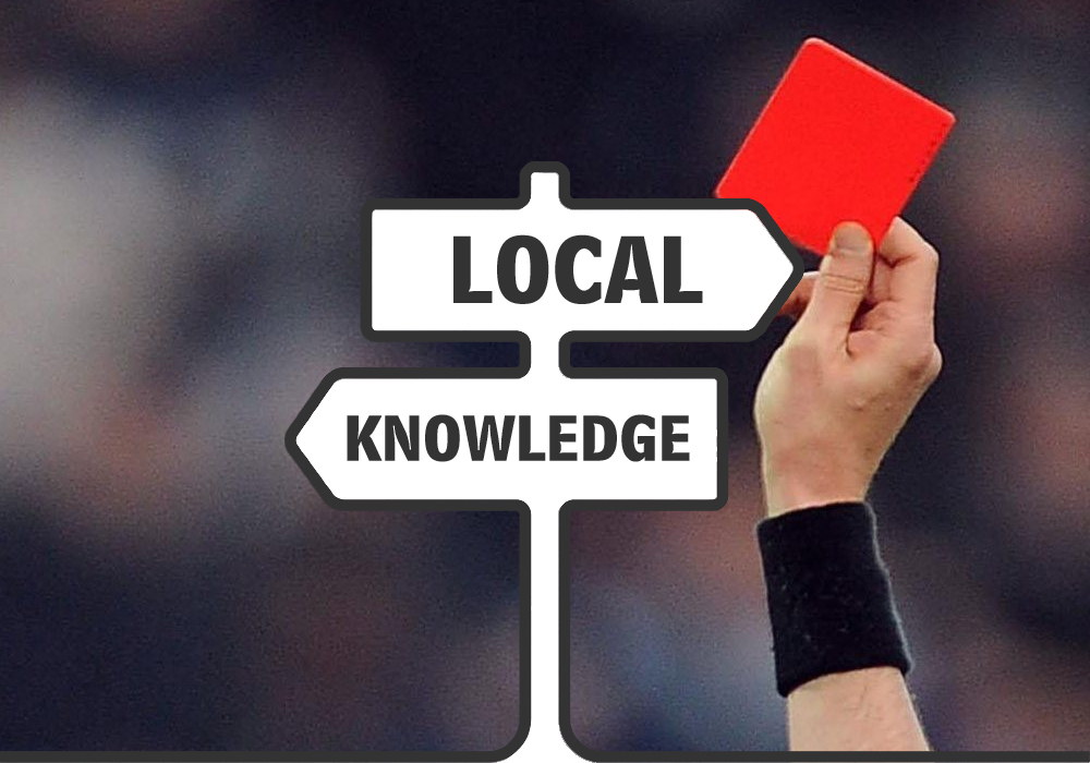 Local Knowledge - fastest red cards in Bracknell.