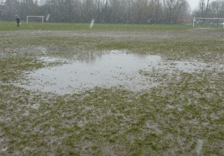 A waterlogged pitch. Not in Bracknell.