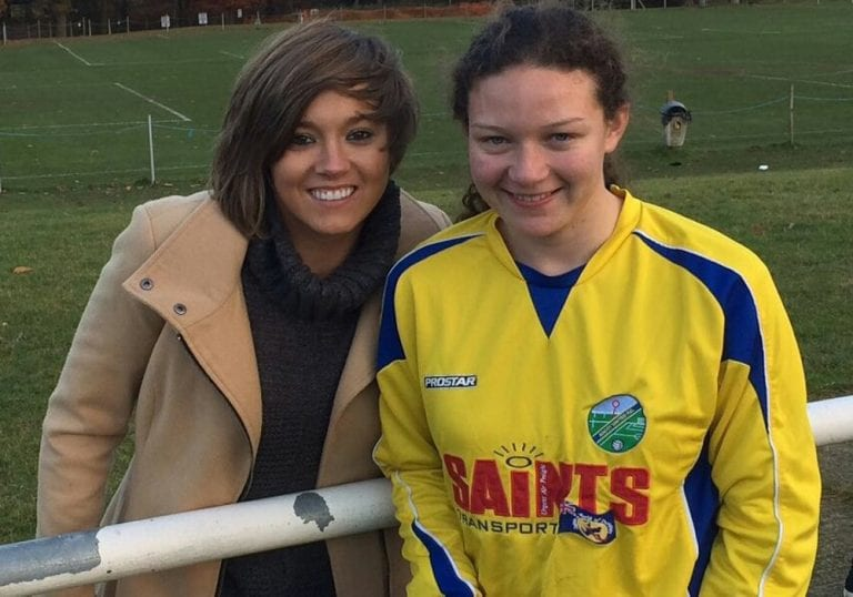 Fran Kirby (left) and Amy Woollard.