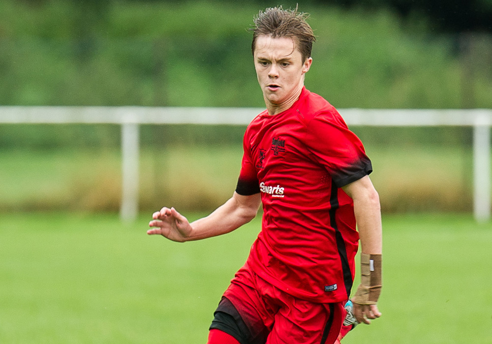 George Lock playing for Binfield FC. Photo: Colin Byers.