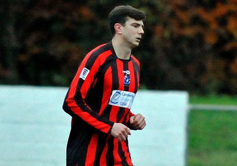 Finchampstead FC's Harry Swabey. Photo: Mark Pugh.