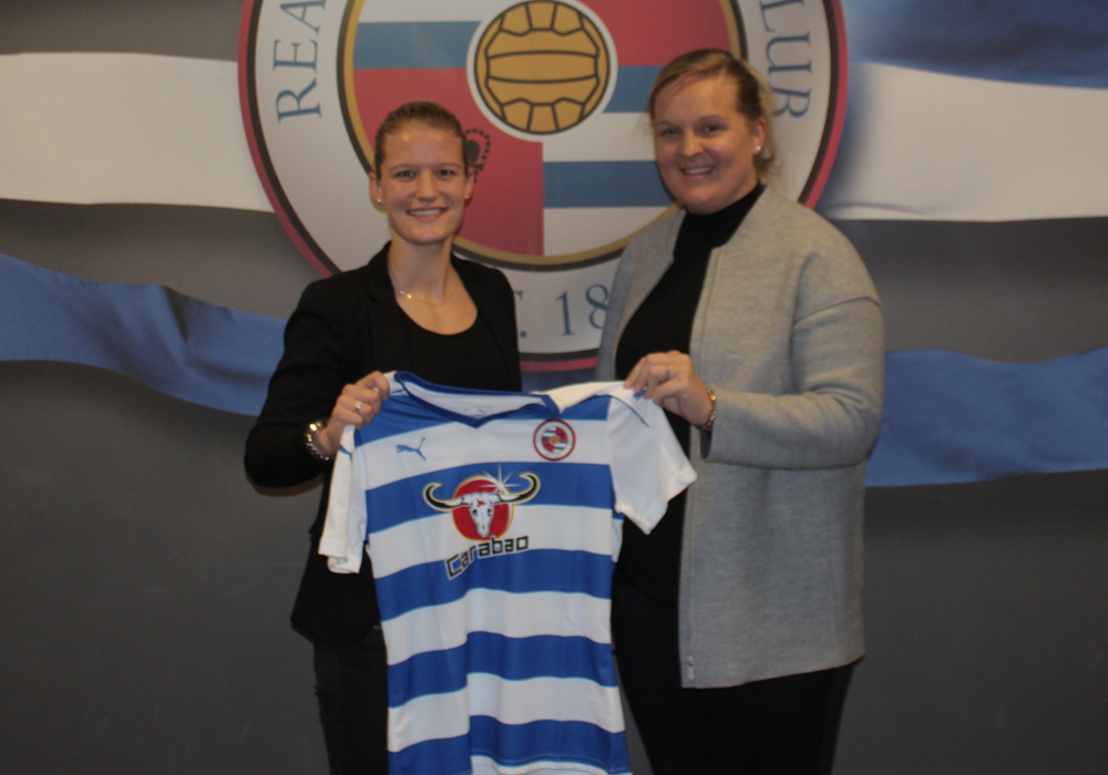 Mandy Van Den Berg is unveiled by Reading FC Women.