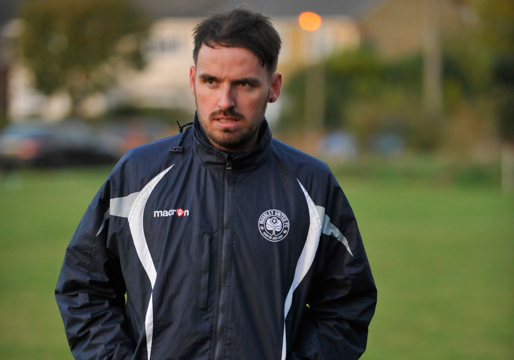 Woodley United FC manager Michael Herbert. Photo: Mark Pugh.