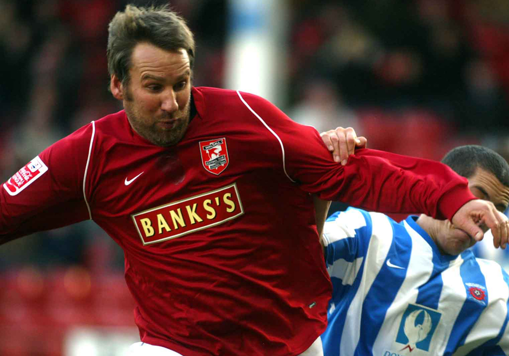 Paul Merson playing for Walsall. Photo: Birmingham Mail.