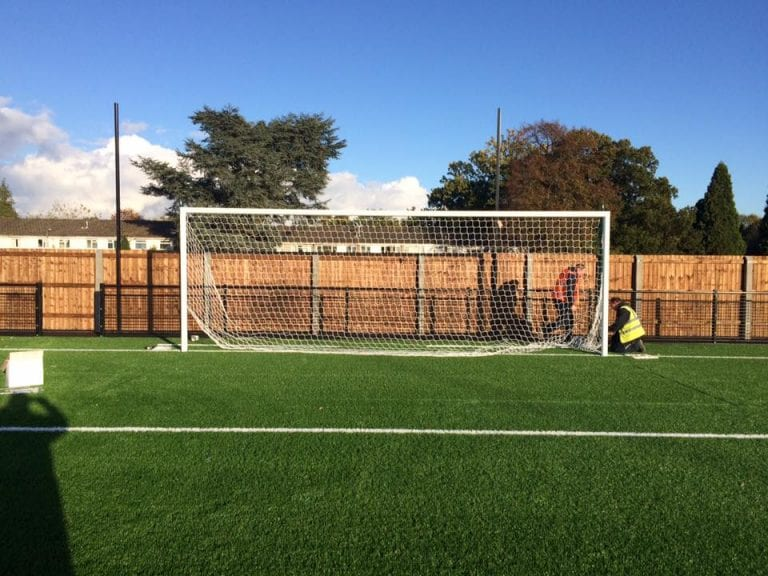 The goal is installed at the Bradley End at Bracknell Town FC. Photo: facebook.com/bracknelltownfc