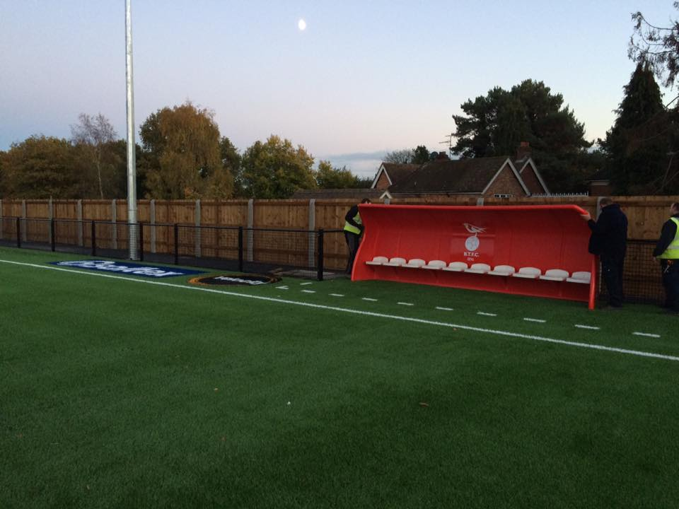 The dugouts have arrived at Bracknell Town FC. Photo: facebook.com/bracknelltownfc