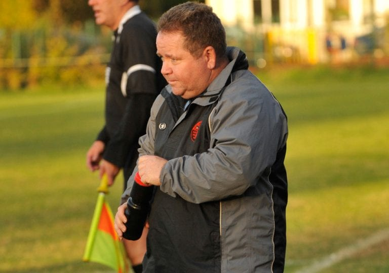 Wokingham & Emmbrook FC manager Clive McNelly. Photo: Mark Pugh.
