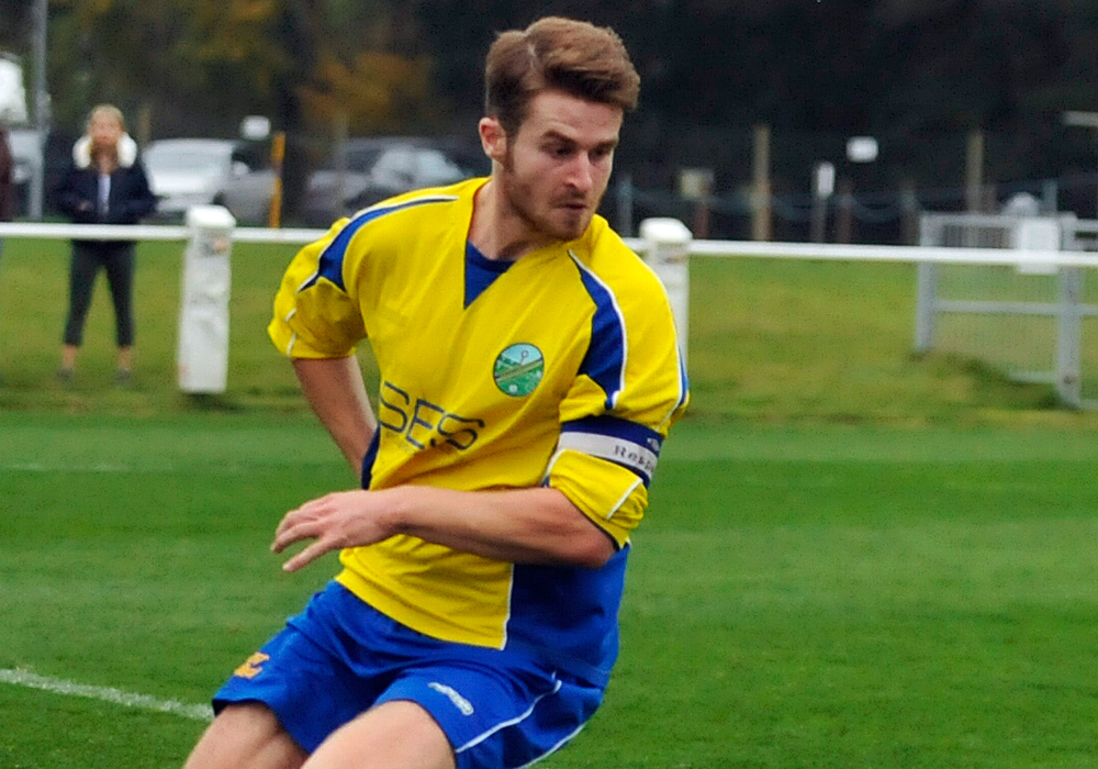 Ascot United captain Jesse Wilson. Photo: Mark Pugh.