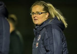 Reading FC Women manager Kelly Chambers. Photo: Neil Graham.