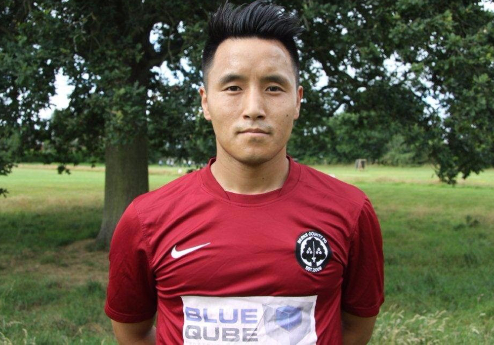 Berks County FC's Ridesh Gurung. Photo: Berks County FC.
