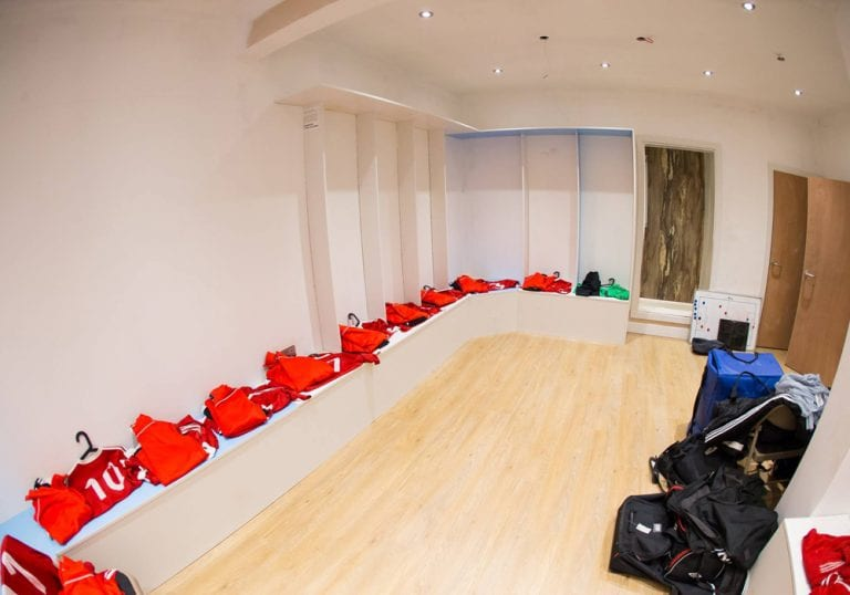 Inside the Larges Lane changing rooms. Photo: Richard Claypole.