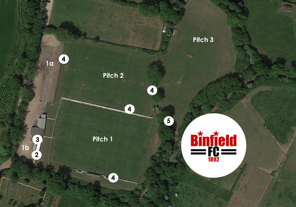 Binfield FC's masterplan. Photo: Google Streetview.