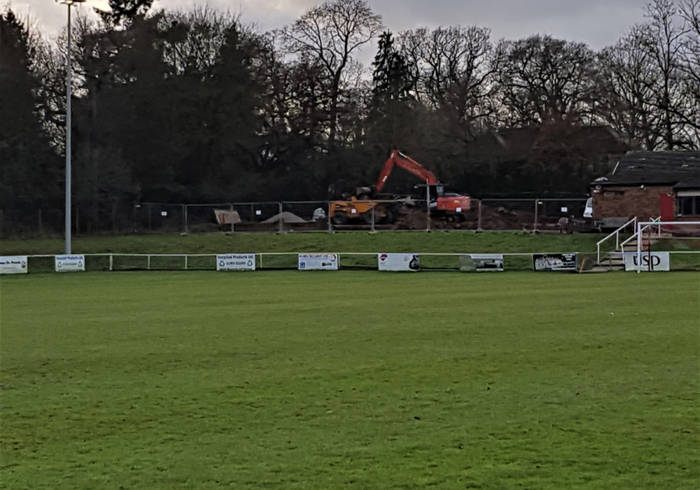 Diggers move in at Binfield FC. Photo: Glenn Duggleby.