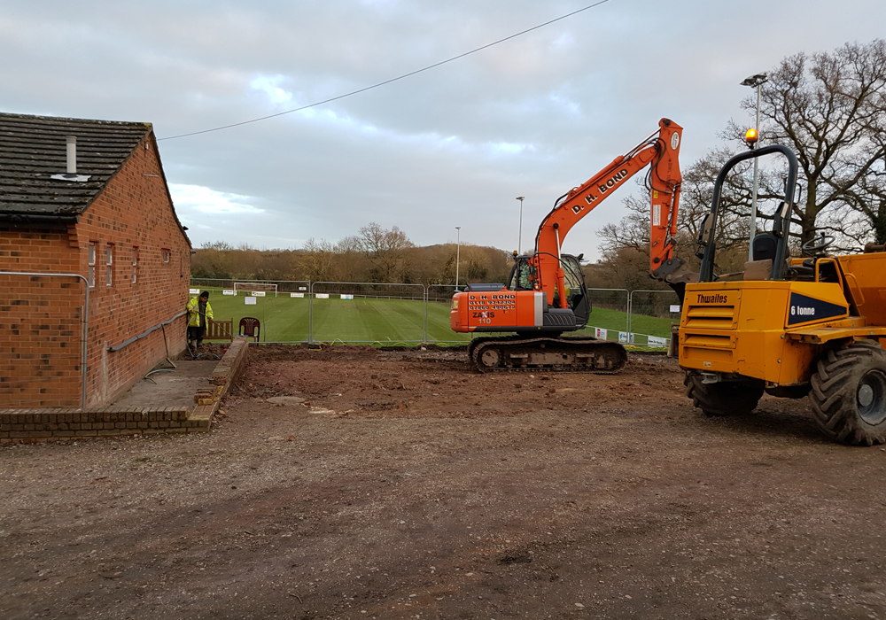Digging foundations at Binfield FC. Photo: Glenn Duggleby.