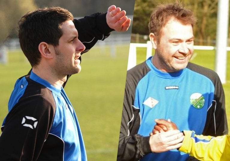 Former Ascot United managers Jeff Lamb and Paul McGrotty. Photo's: getreading.co.uk