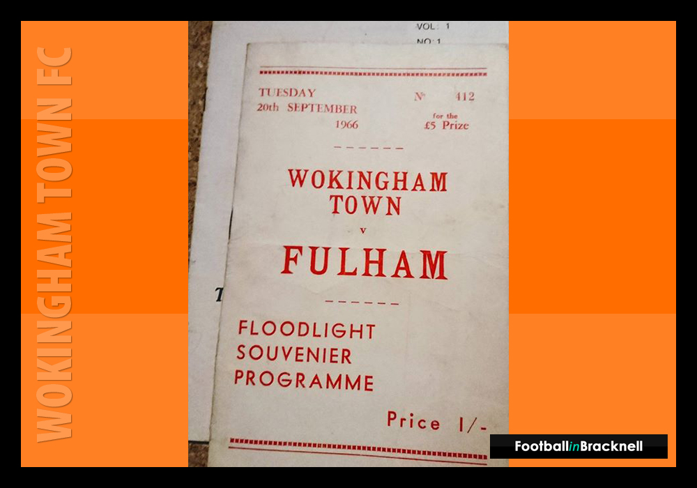 Programme from Wokingham Town vs Fulham FC. Photo: Sean Chandler.